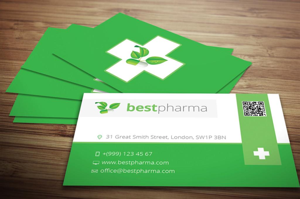 Зеленый цвет фона визиток