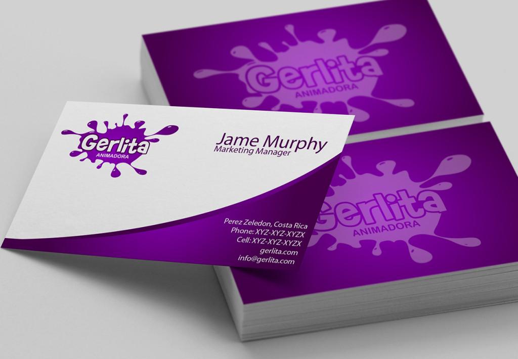 Фиолетовый цвет фона визиток