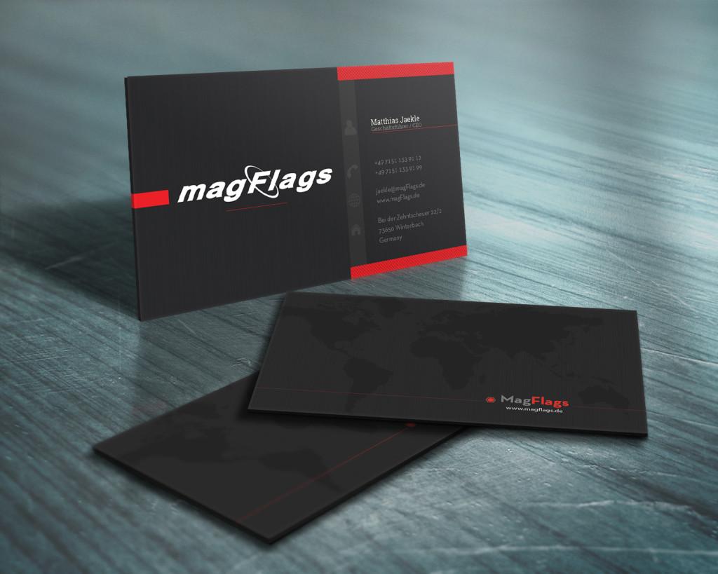 Черный цвет фона визиток
