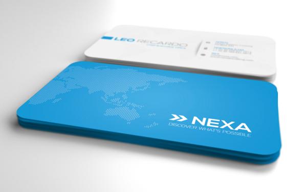 Голубой цвет фона визиток