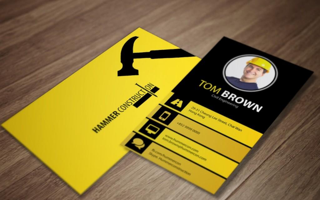 Желтый цвет фона визиток