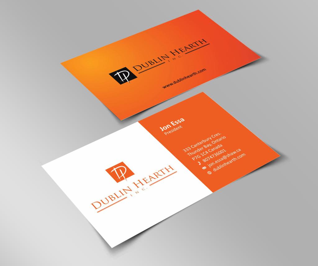 Оранжевый цвет фона визиток