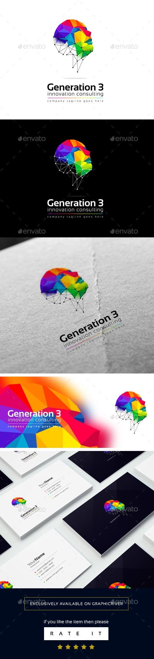 Дизайн Абстрактного логотипа для визитки
