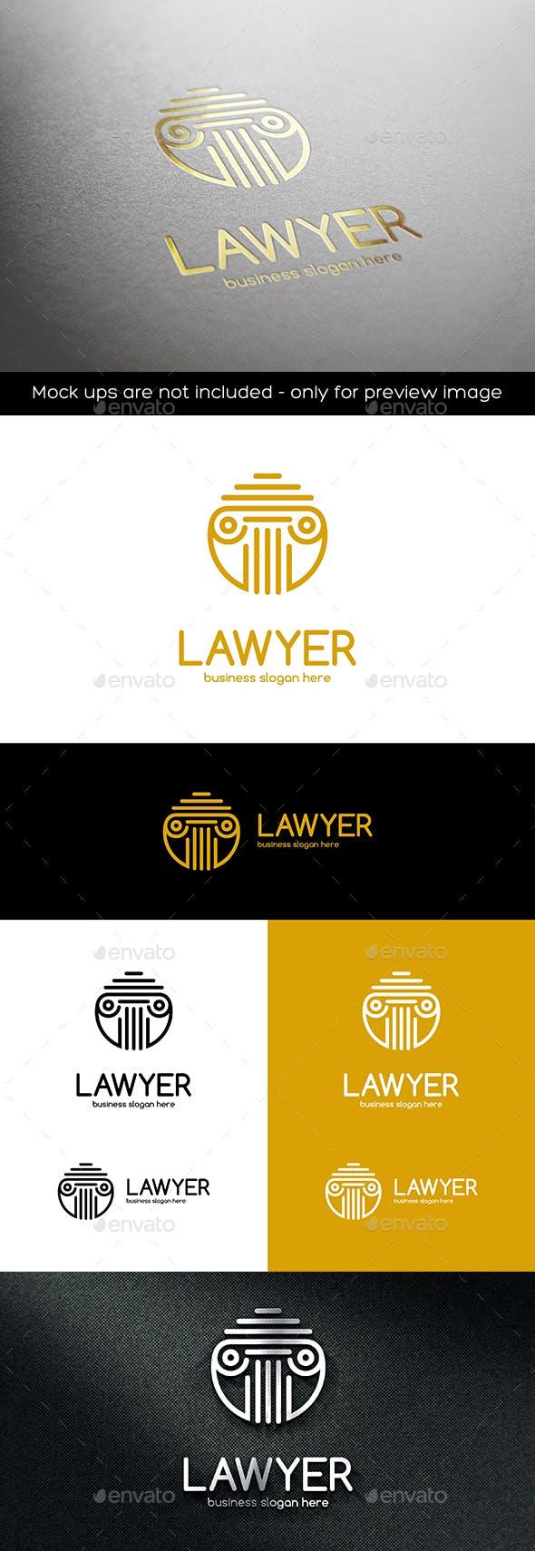 Дизайн логотипа Адвоката юриста для визитки