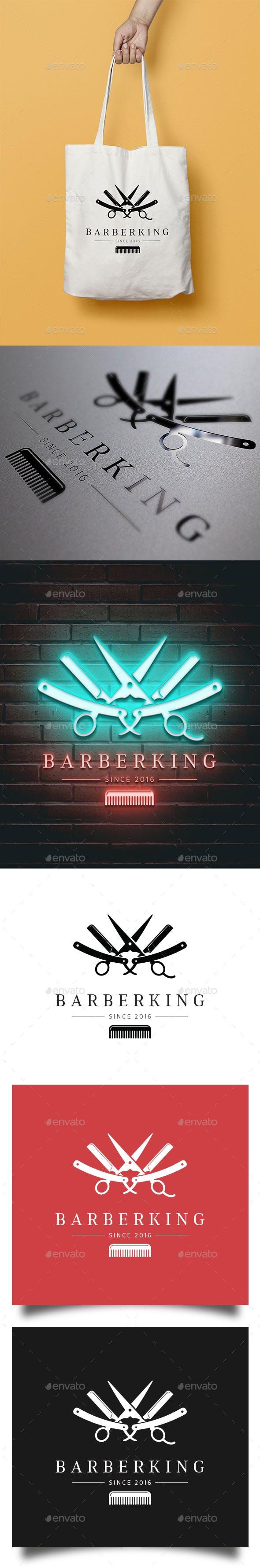 Дизайн логотипа Барбершопа для визитки