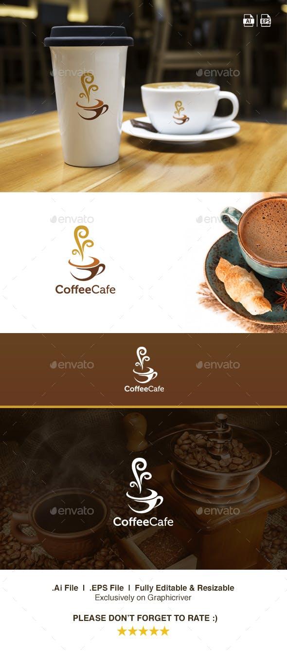 Дизайн логотипа Кофейной лавки для визитки