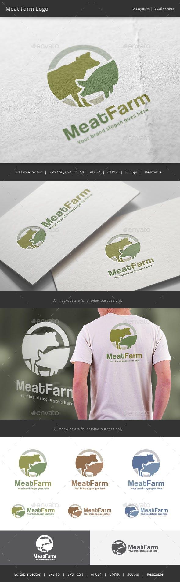Дизайн логотипа Мясная лавка для визитки