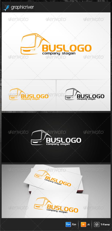 Дизайн логотипа Перевозки на автобусе для визитки