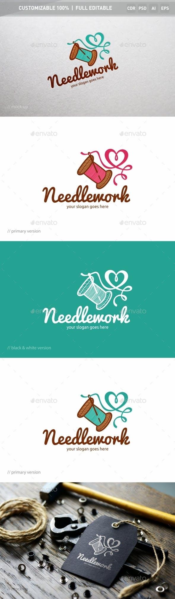 Дизайн логотипа Швейной мастерской для визитки