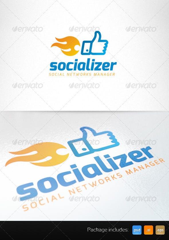Дизайн логотипа SMM менеджера для визитки