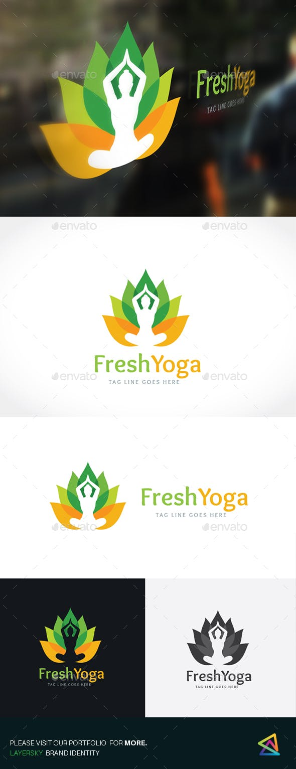 Дизайн логотипа Занятия йогой для визитки