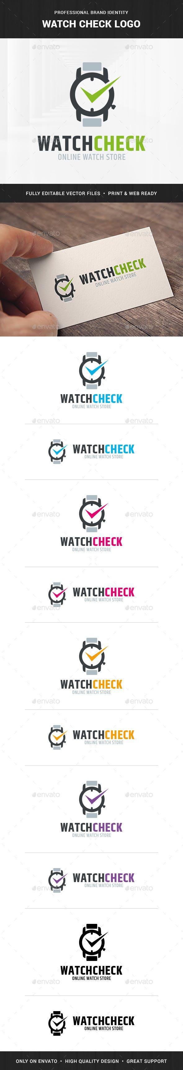 Дизайн логотипа магазина Часов для визитки