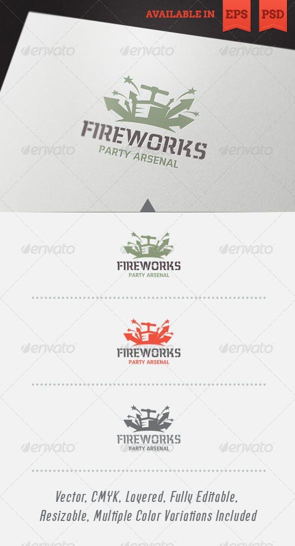 Дизайн логотипа с Фейерверком для визитки