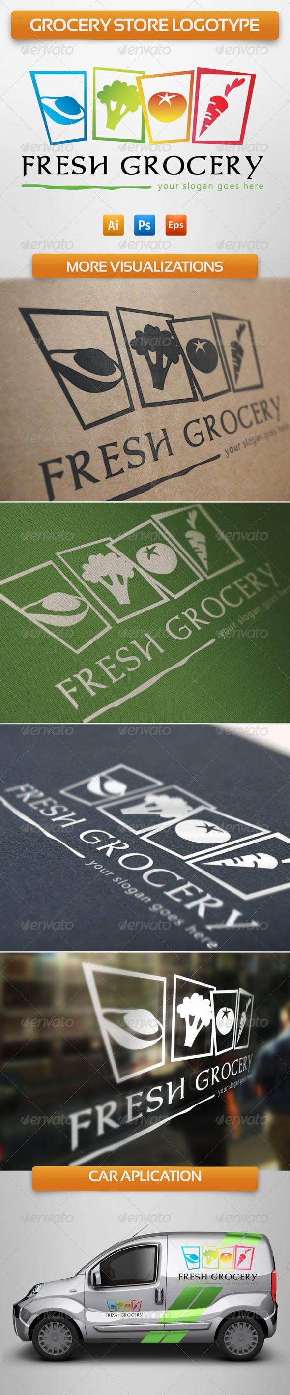 Дизайн логотипа склада Овощебазы для визитки