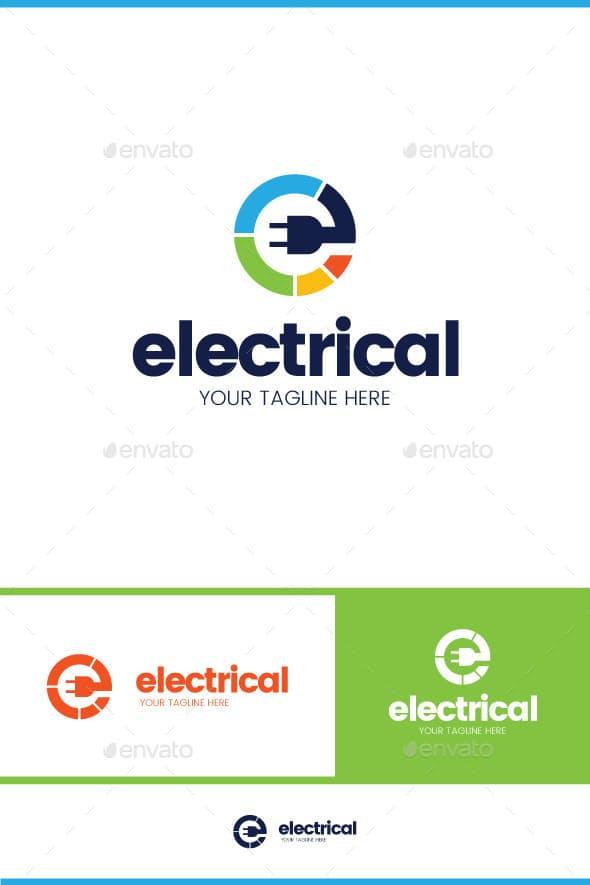 Дизайн логотипа услуги Электрика для визитки